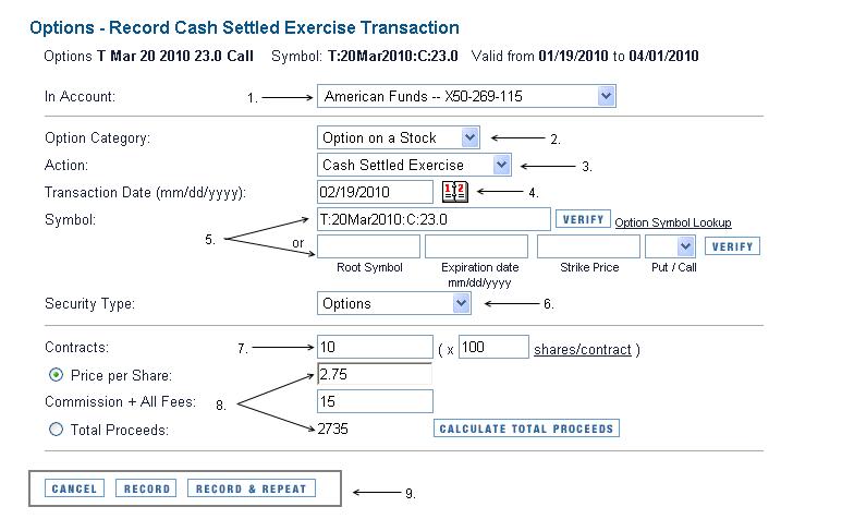 Fx options cash settled