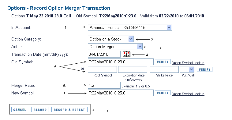 Stock options during a merger