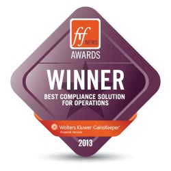 GainsKeeper WINS FTF Award 2013